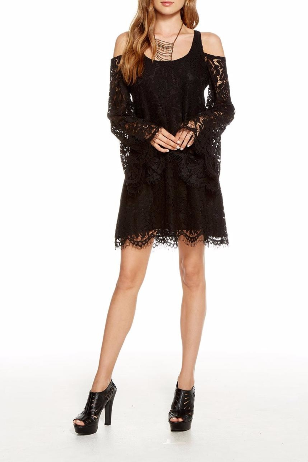 Chaser Lace Bell-Sleeve Mini - Main Image