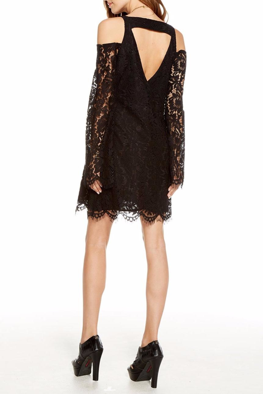 Chaser Lace Bell-Sleeve Mini - Back Cropped Image