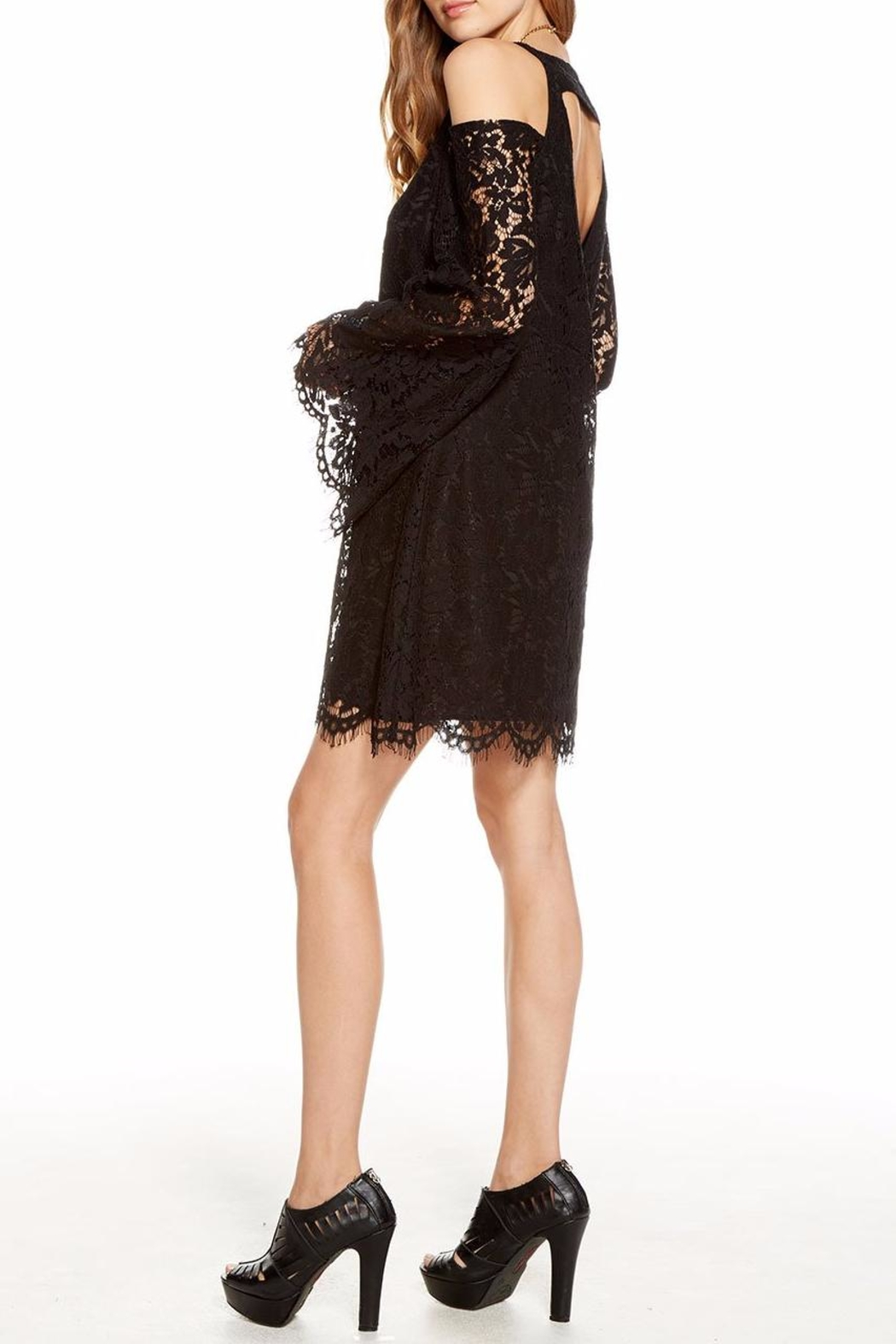 Chaser Lace Bell-Sleeve Mini - Side Cropped Image