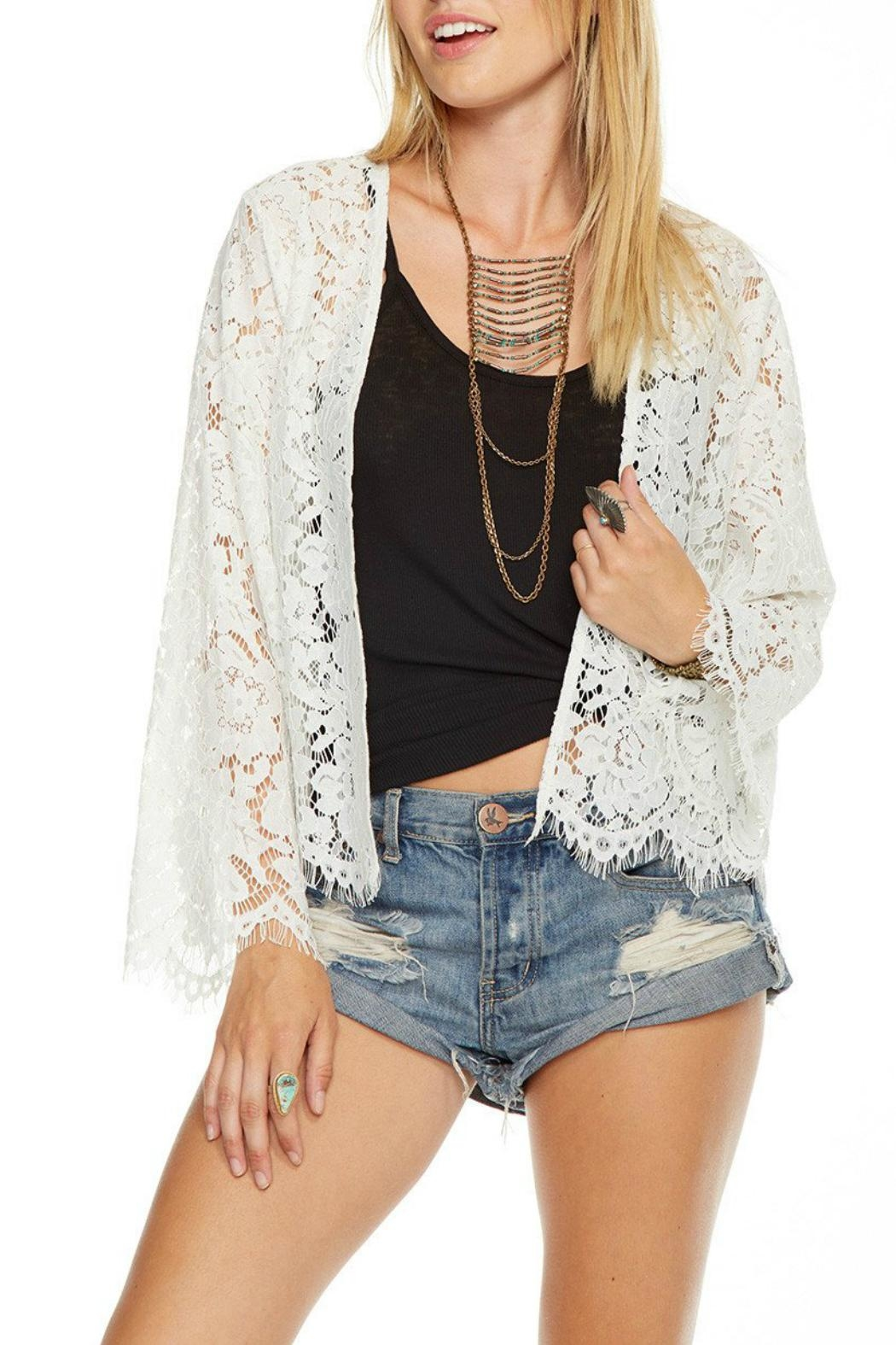 Chaser Laced Kimono - Front Cropped Image
