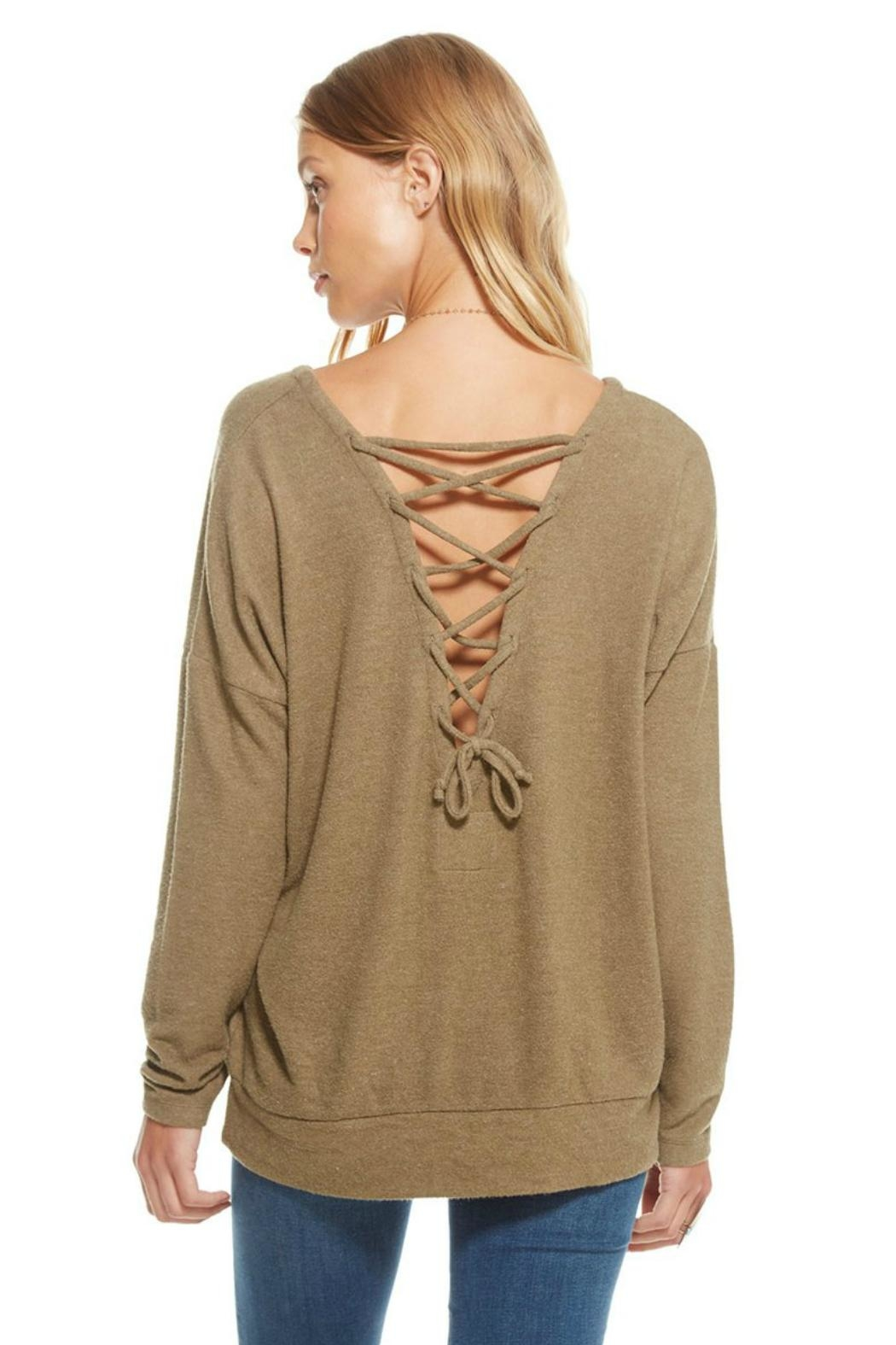 Chaser Lace-Up Pullover - Front Full Image