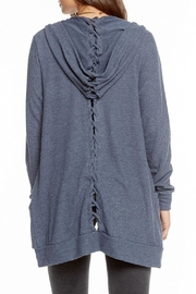 Chaser Laced Back Cardigan - Side cropped