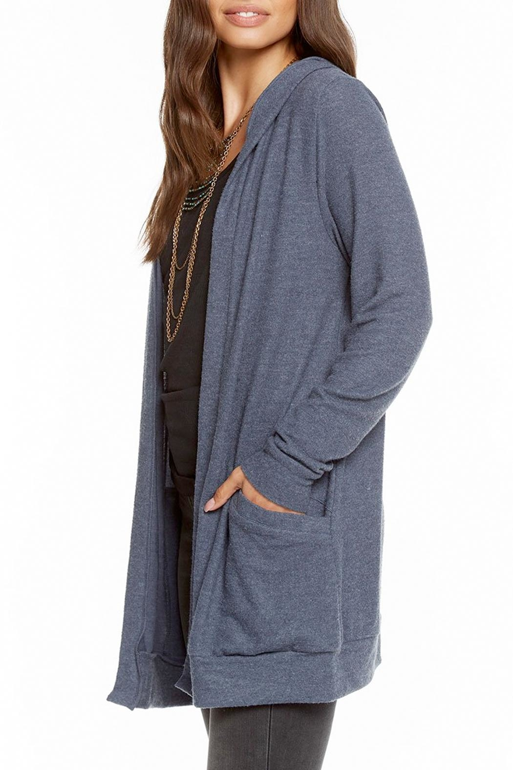Chaser Laced Back Cardigan - Front Full Image