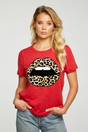 Chaser Leopard Lips Tee - Product Mini Image