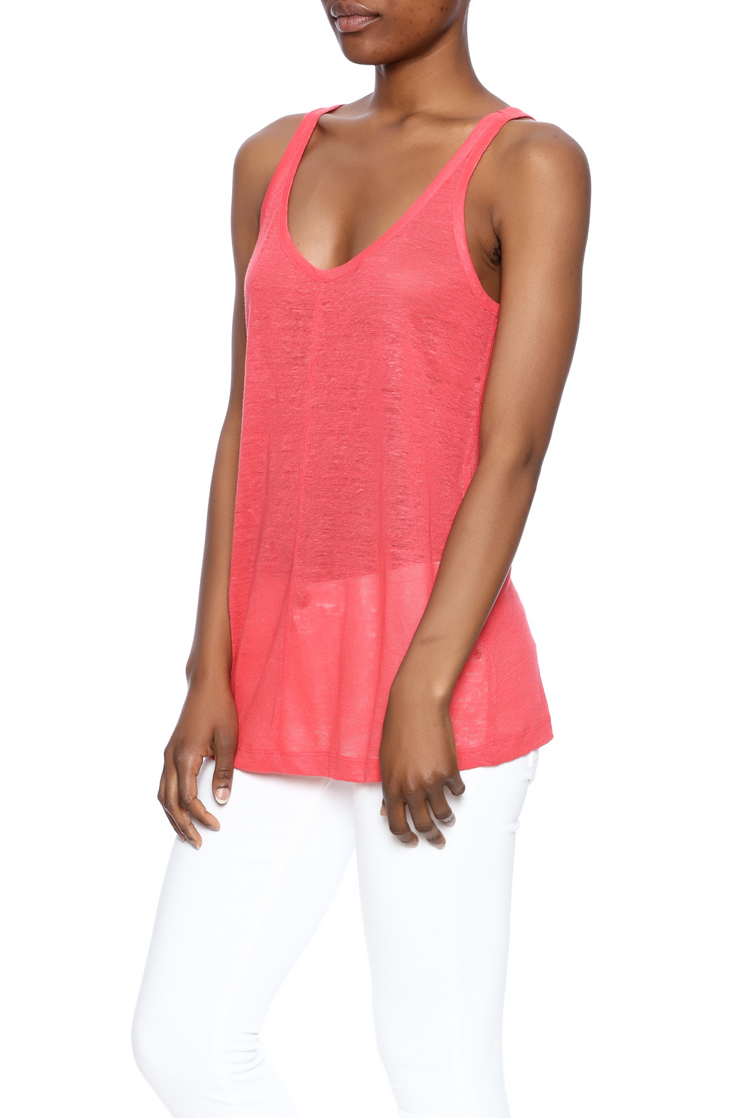 Chaser Linen Sporty Tank - Main Image