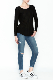 Chaser Long Sleeve Open Back Tee - Side cropped