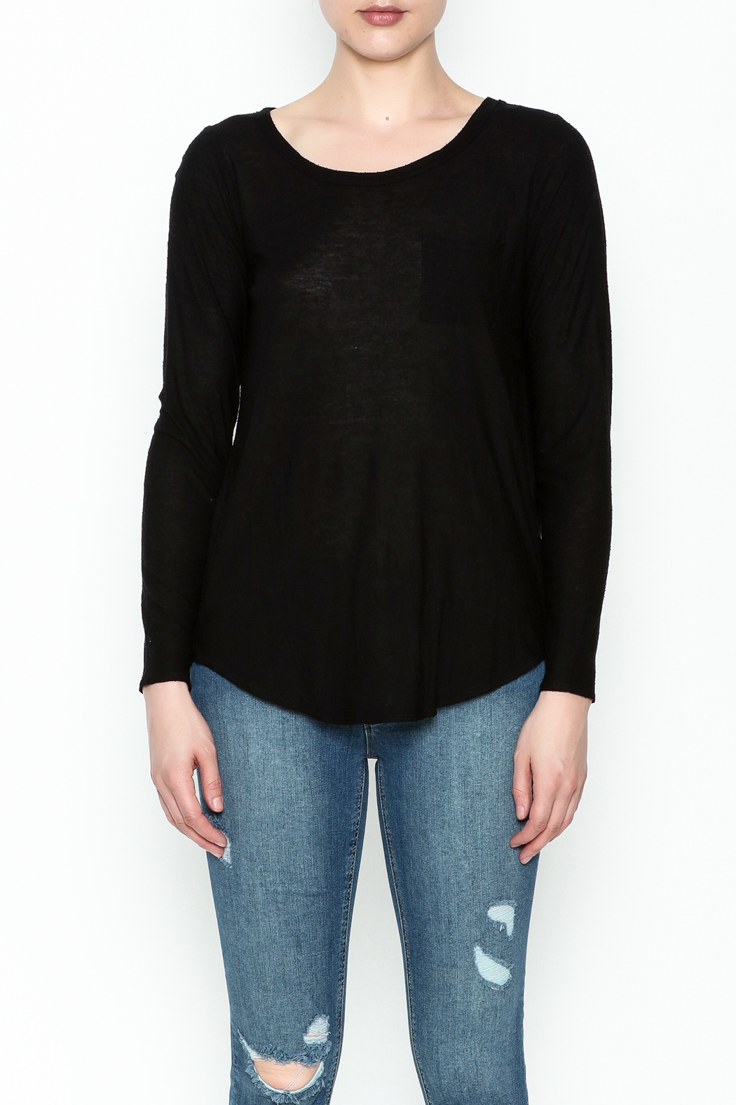 Chaser Long Sleeve Open Back Tee - Front Full Image