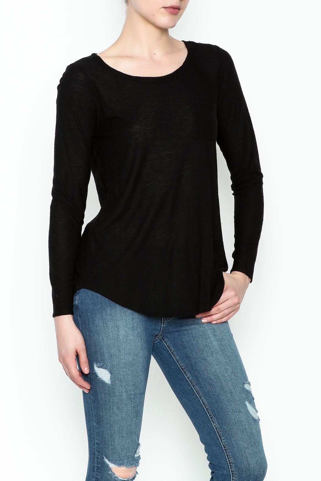 Chaser Long Sleeve Open Back Tee - Main Image