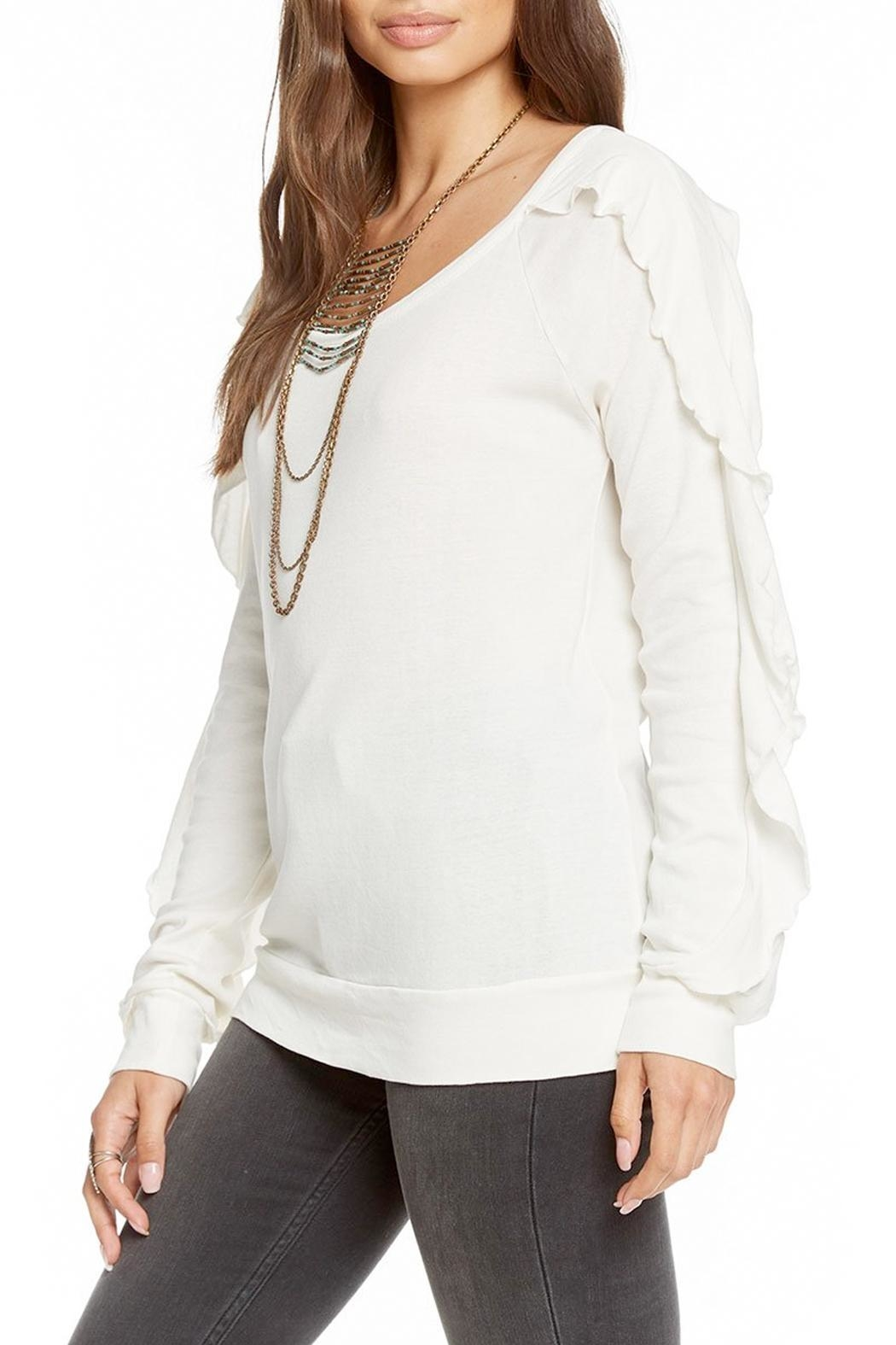 Chaser Long-Sleeve Ruffle Top - Front Full Image