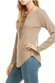 Chaser Lace Up Back Sweater - Front full body
