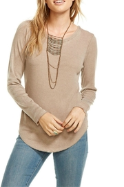 Chaser Lace Up Back Sweater - Front cropped
