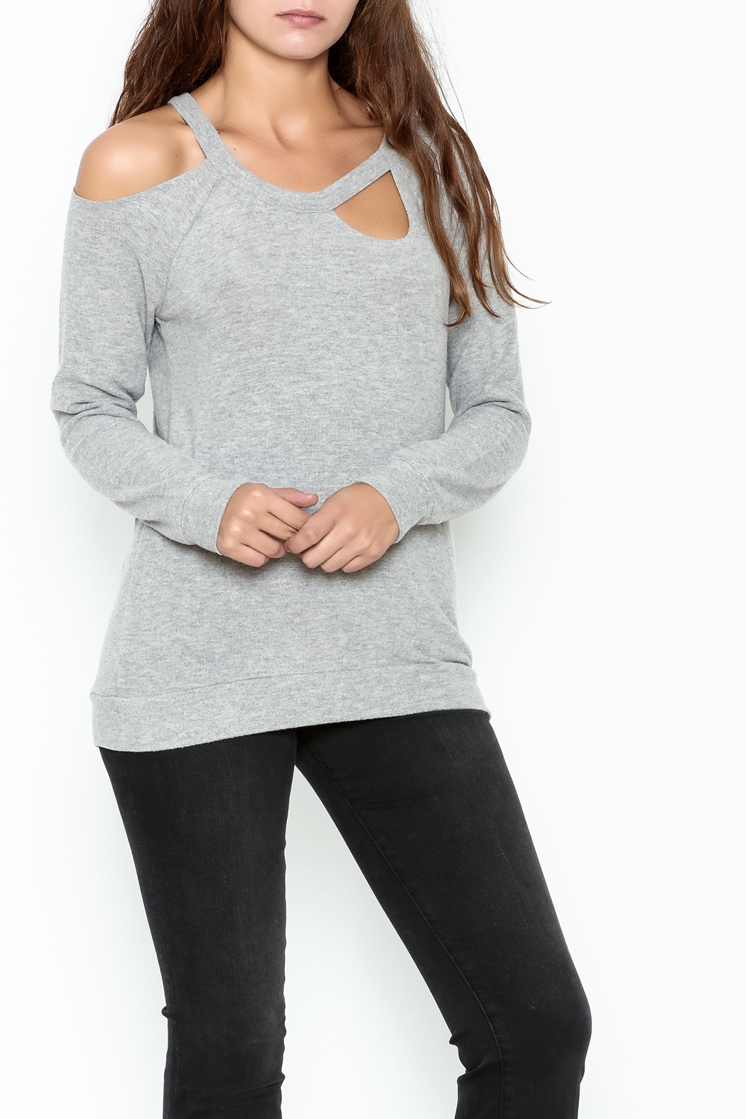Chaser Love Knit Sweater - Front Cropped Image