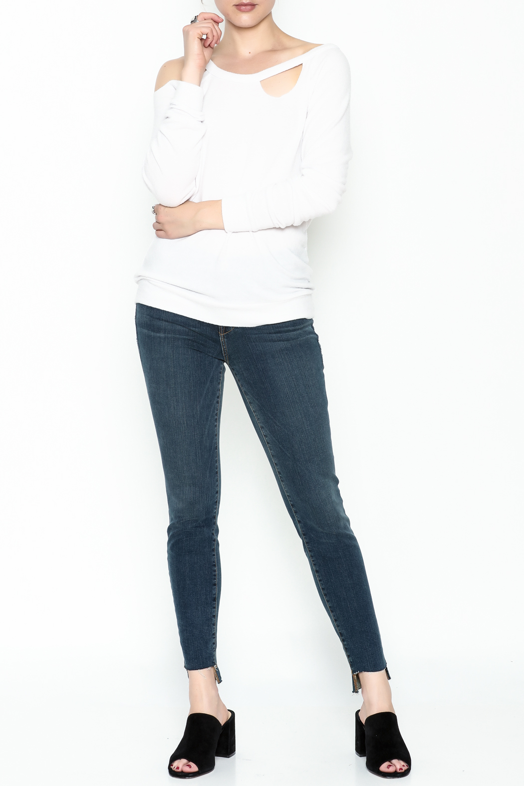 Chaser Love Knit Sweater - Side Cropped Image