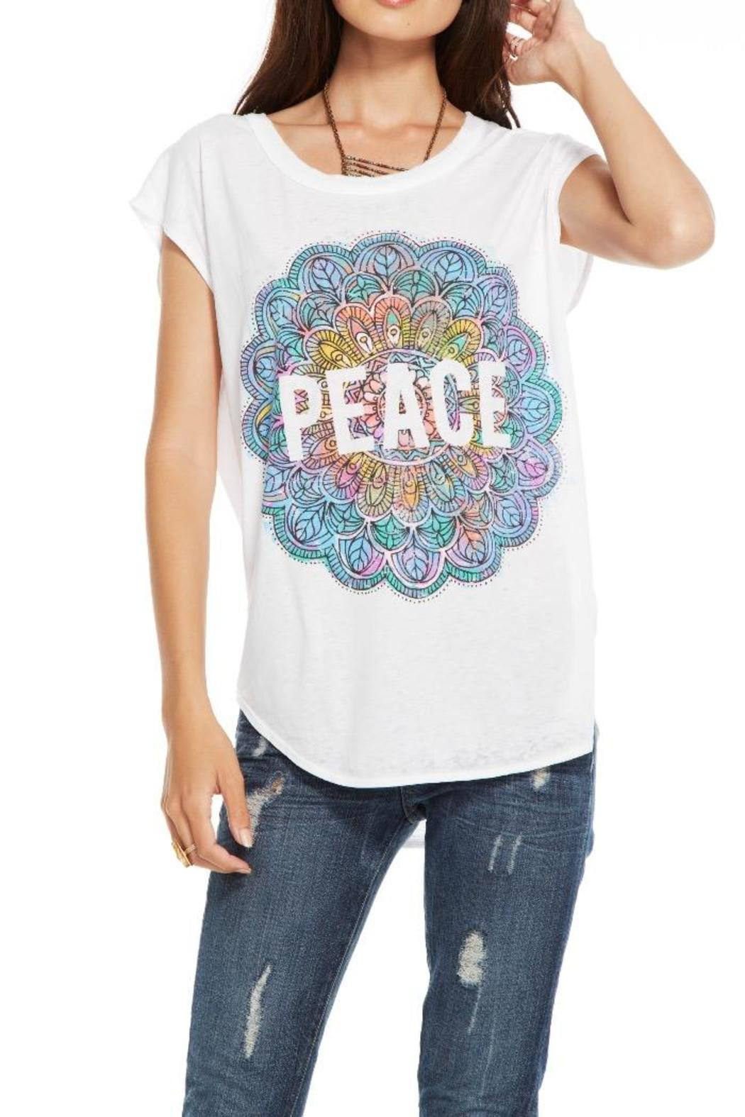 Chaser Mandala Peace Tee - Front Cropped Image