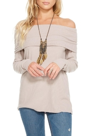 Chaser Off Shoulder Pullover - Product Mini Image