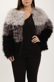 Chaser Ombre Maribou Jacket - Front cropped