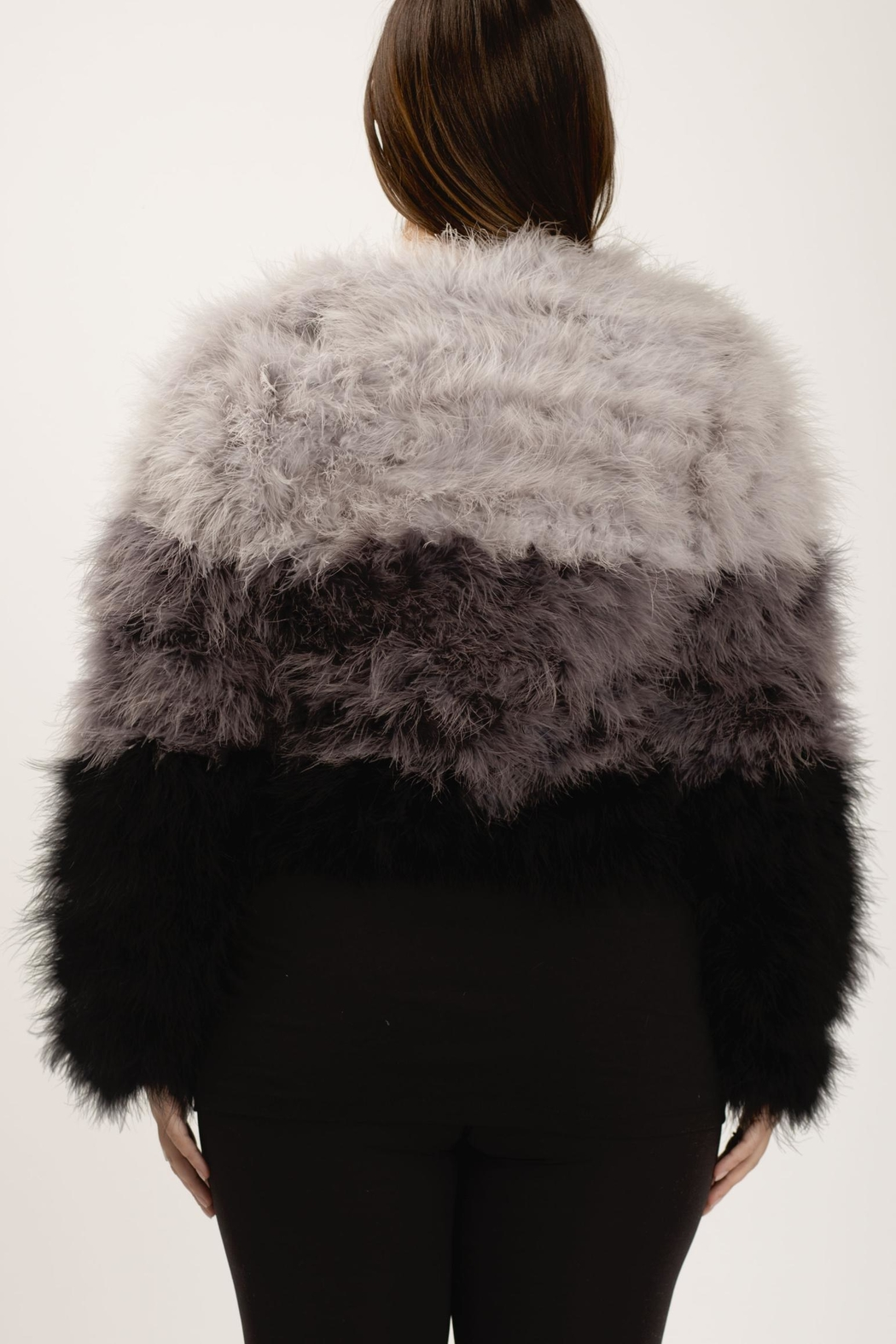 Chaser Ombre Maribou Jacket - Side Cropped Image