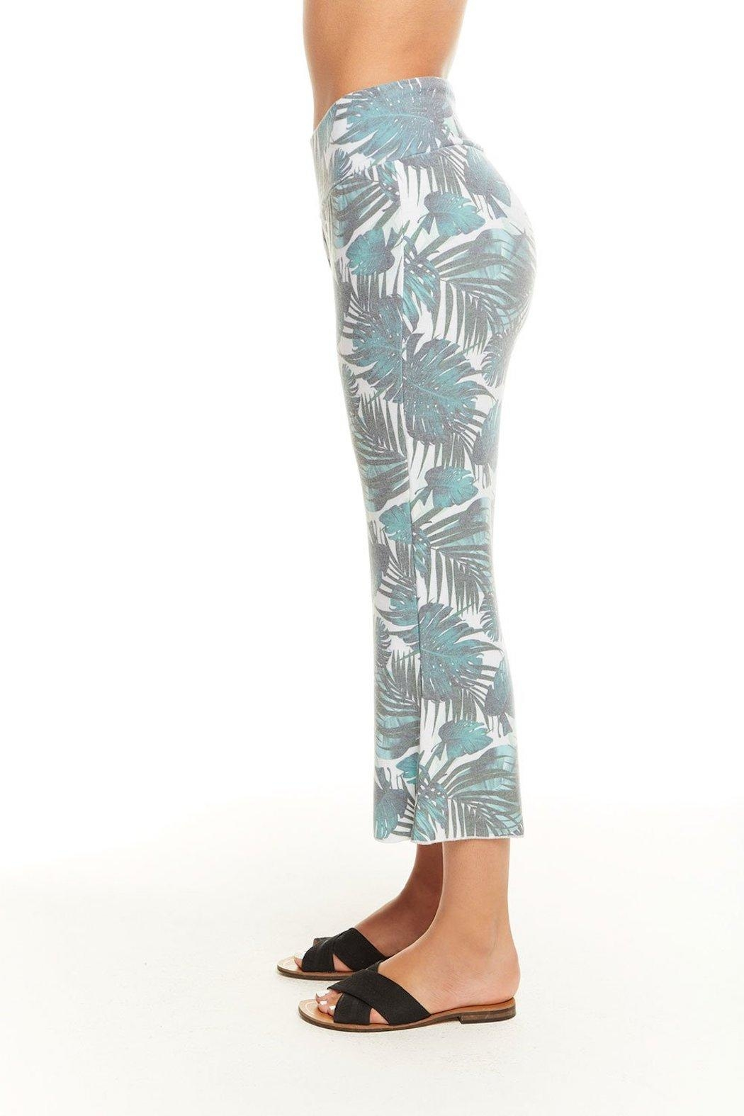 Chaser Palm Print Pant - Side Cropped Image