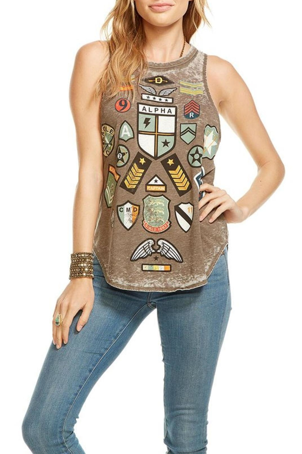 Chaser Patched Graphic Tank Top - Main Image