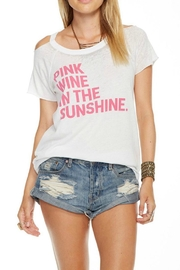 Chaser Pink Wine Graphic Tee - Product Mini Image