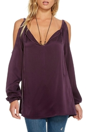 Chaser Purple Bohemian Blouse - Product Mini Image