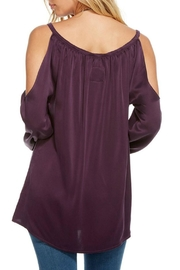 Chaser Purple Bohemian Blouse - Front full body