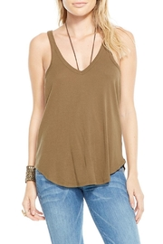 Chaser Moss Racerback Tank Top - Front cropped