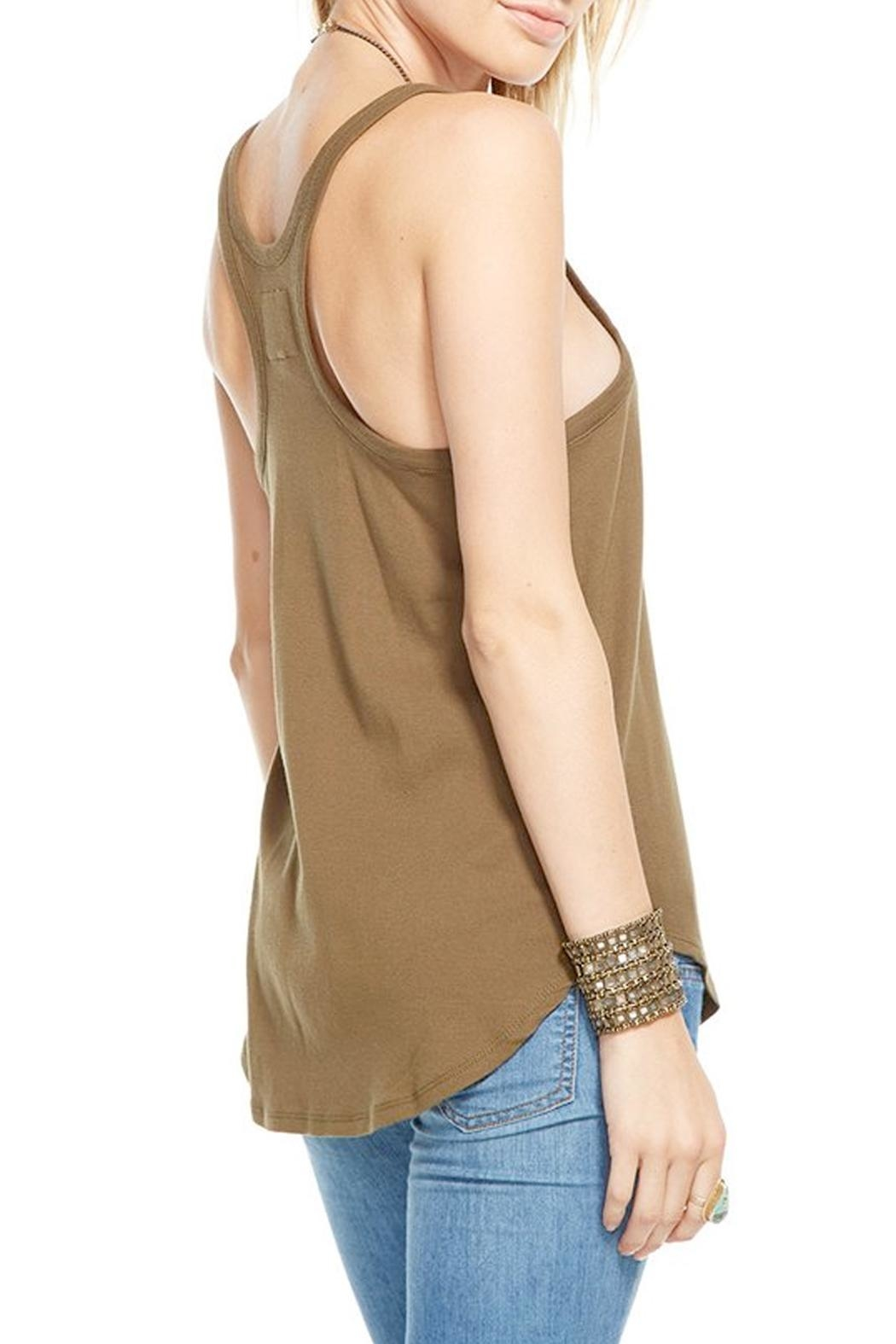 Chaser Moss Racerback Tank Top - Front Full Image