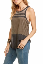 Chaser Racerback Blocked Tank - Front cropped