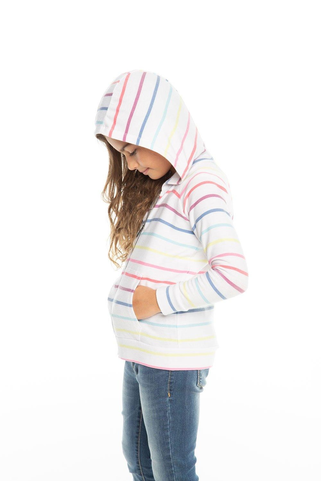 Chaser Rainbow Stripe Hoodie - Front Full Image