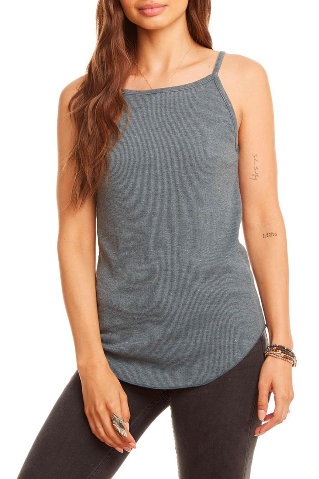 Chaser Rib Racerback Tank - Front Cropped Image