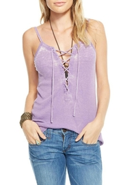 Chaser Ribbed Lace Up Cami - Product Mini Image