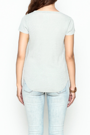 Chaser Ribbed Short Sleeved Henley - Back cropped