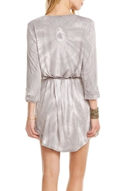Chaser Rolled-Cuff Henley Dress - Back cropped