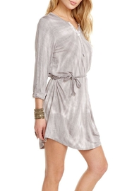Chaser Rolled-Cuff Henley Dress - Side cropped