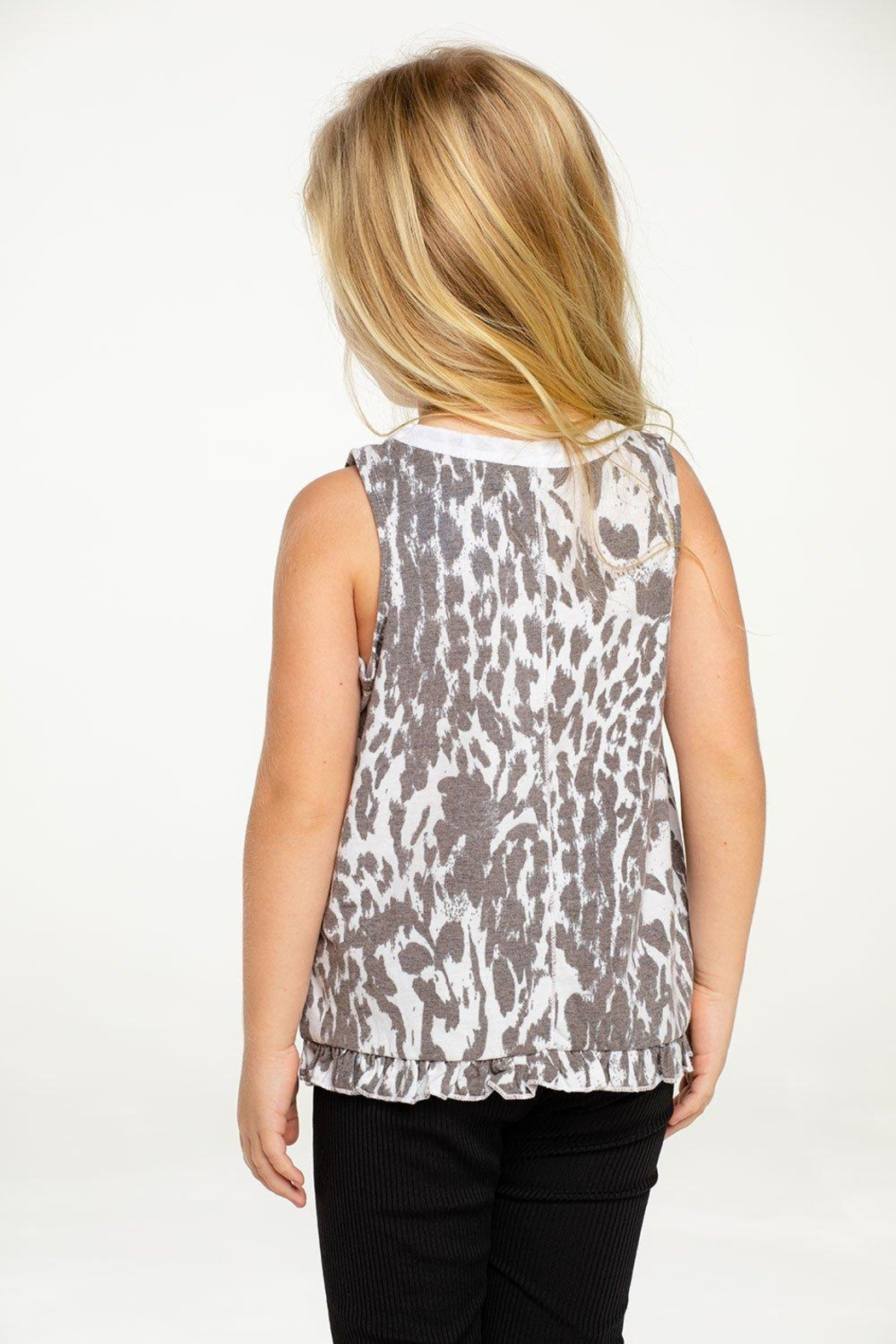 Chaser Ruffle Muscle Tank - Front Full Image
