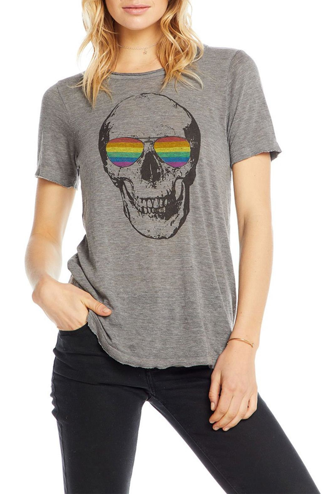 Chaser Shaded Skull Tee - Side Cropped Image