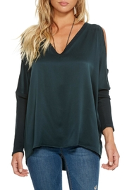 Chaser Silk Charmeuse Blouse - Front cropped