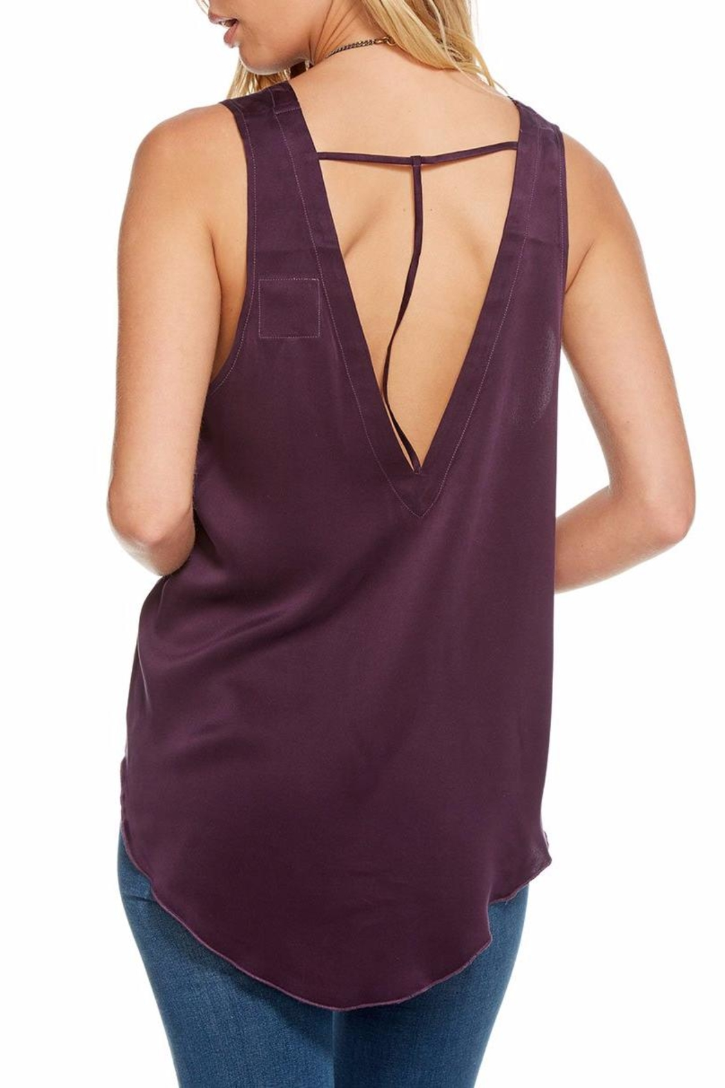Chaser Silk Charmeuse T-Back - Side Cropped Image