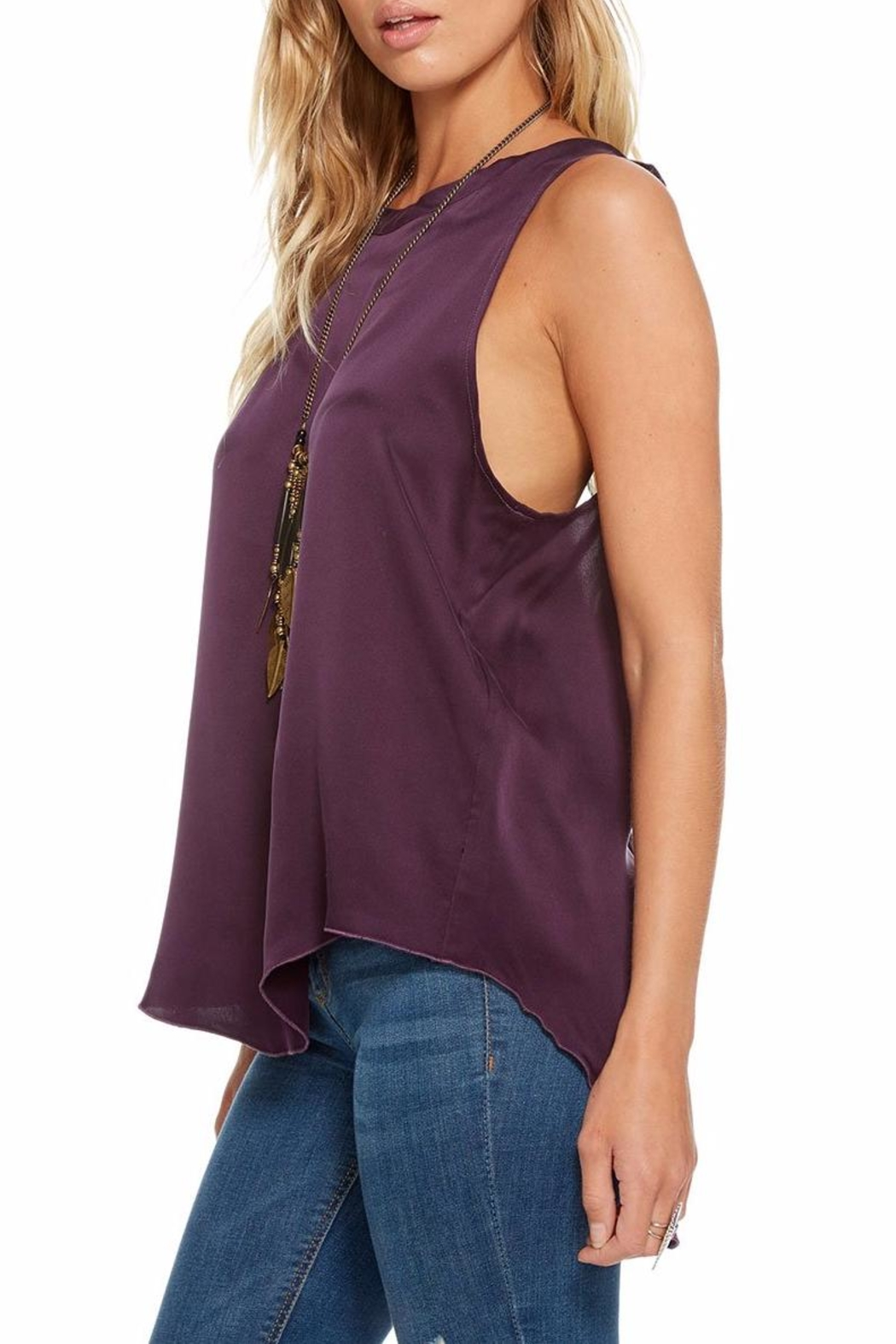 Chaser Silk Charmeuse T-Back - Front Full Image