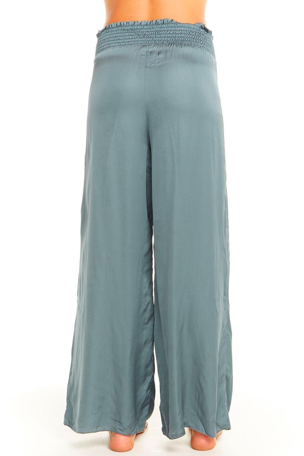 Chaser Silky Smocked Pant - Side Cropped Image