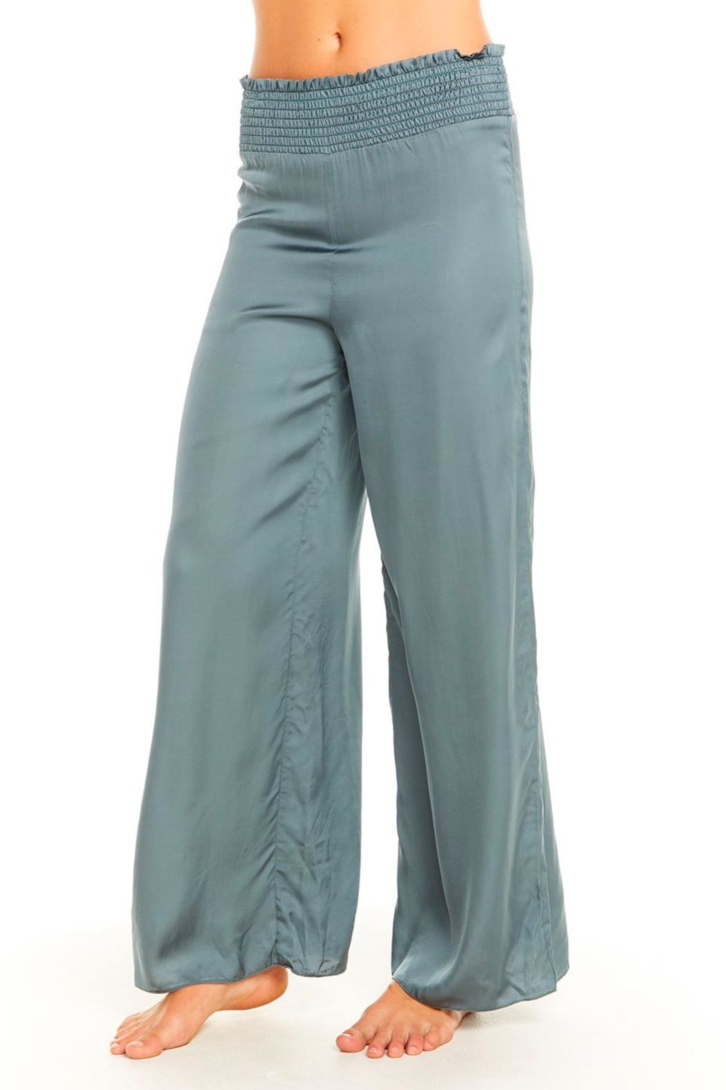 Chaser Silky Smocked Pant - Front Full Image