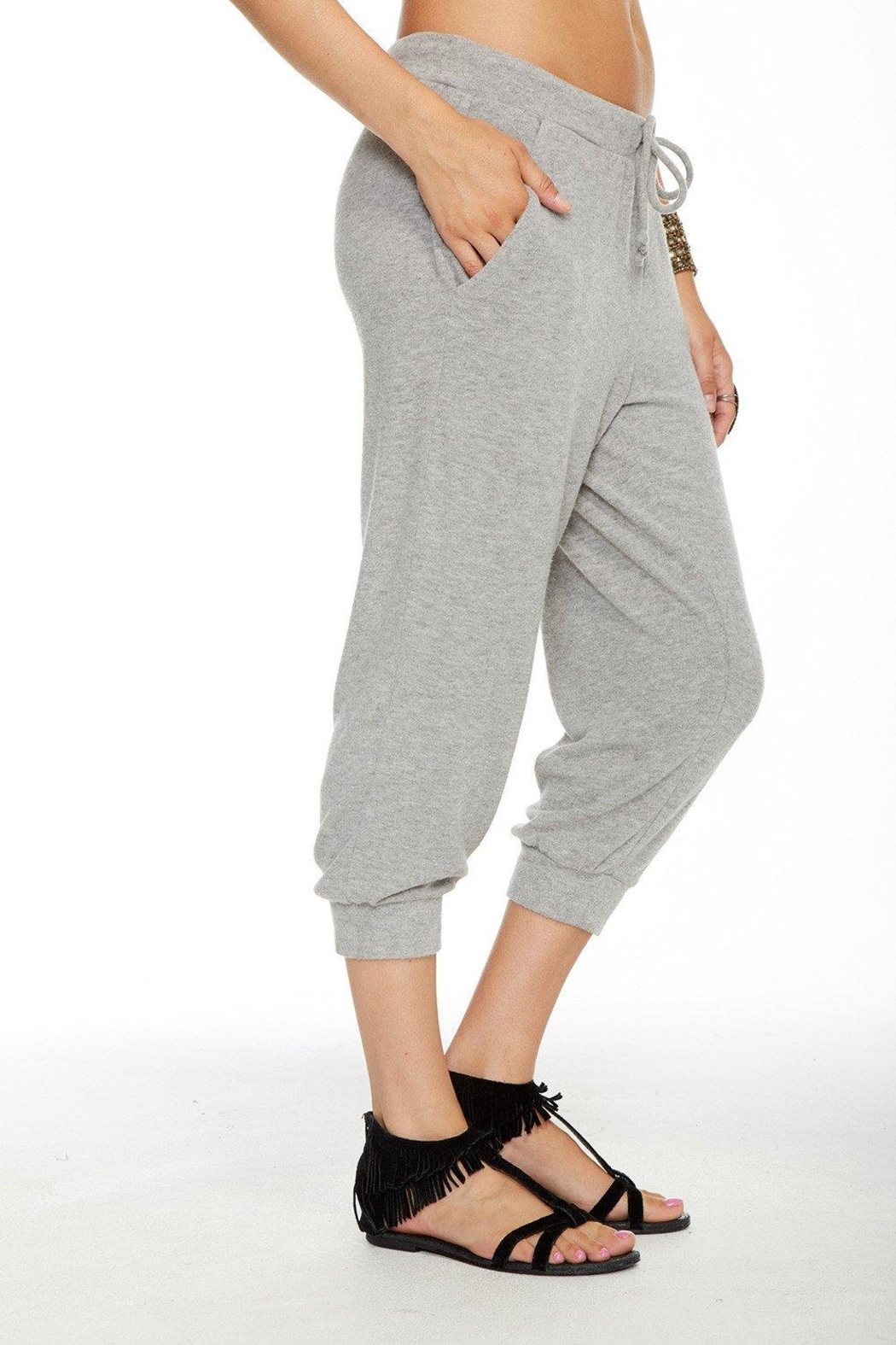 Chaser Slouchy Cropped Pant - Front Full Image