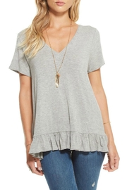 Chaser Strappy Ruffle Tee - Product Mini Image