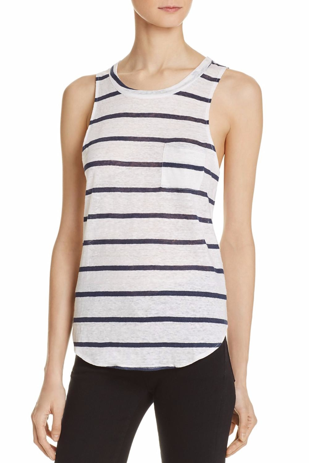 Chaser Stripe Pocket Tank - Main Image