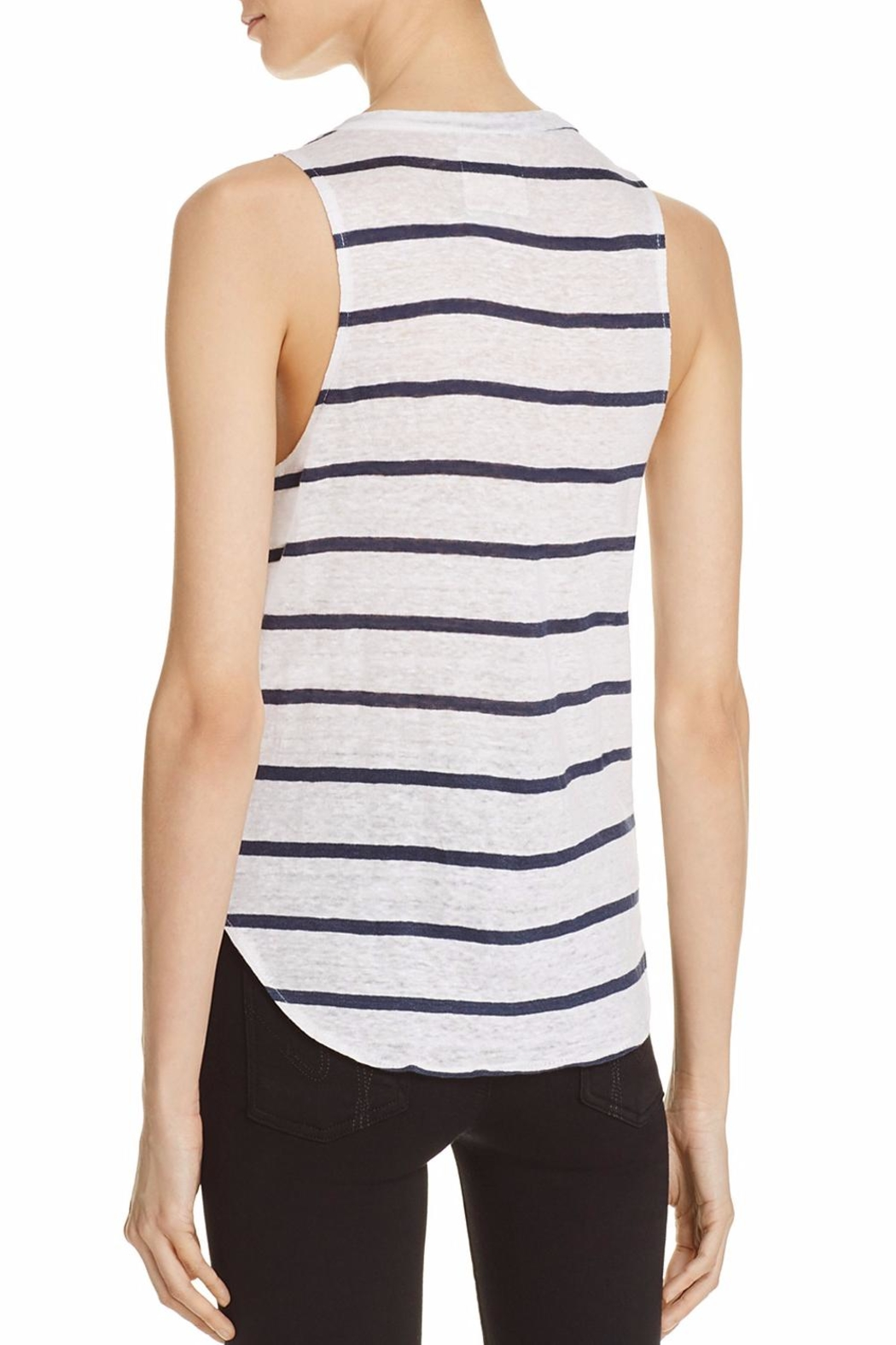 Chaser Stripe Pocket Tank - Front Full Image
