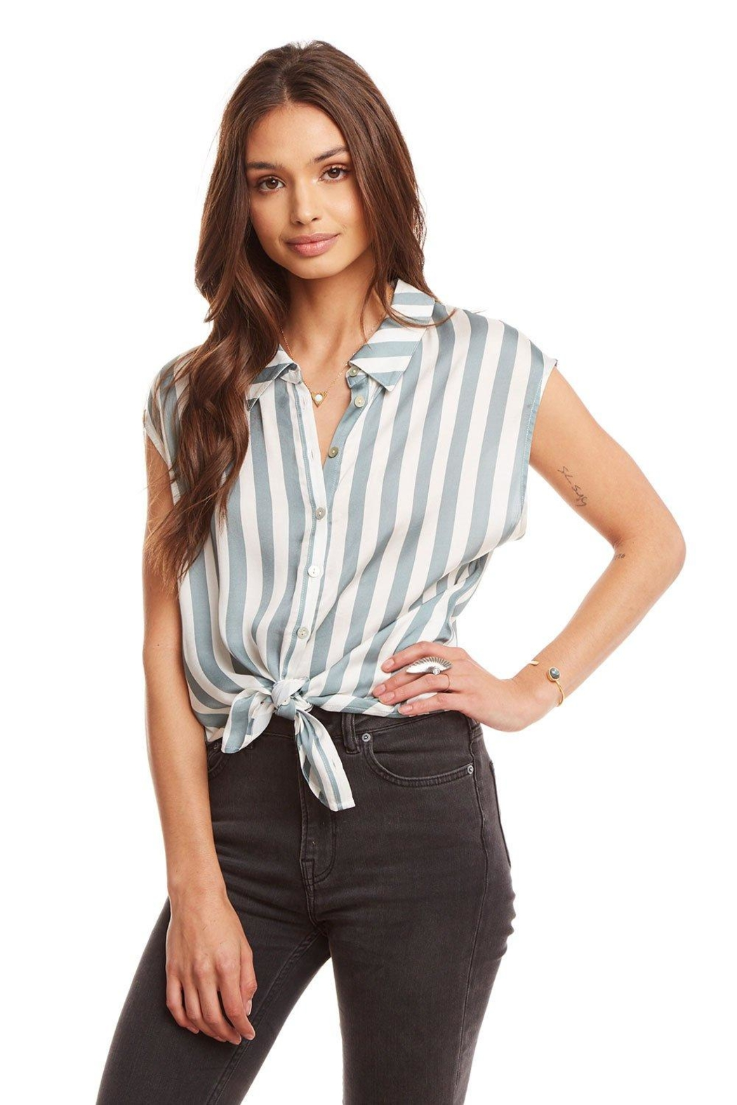 Chaser Stripe Top - Front Cropped Image