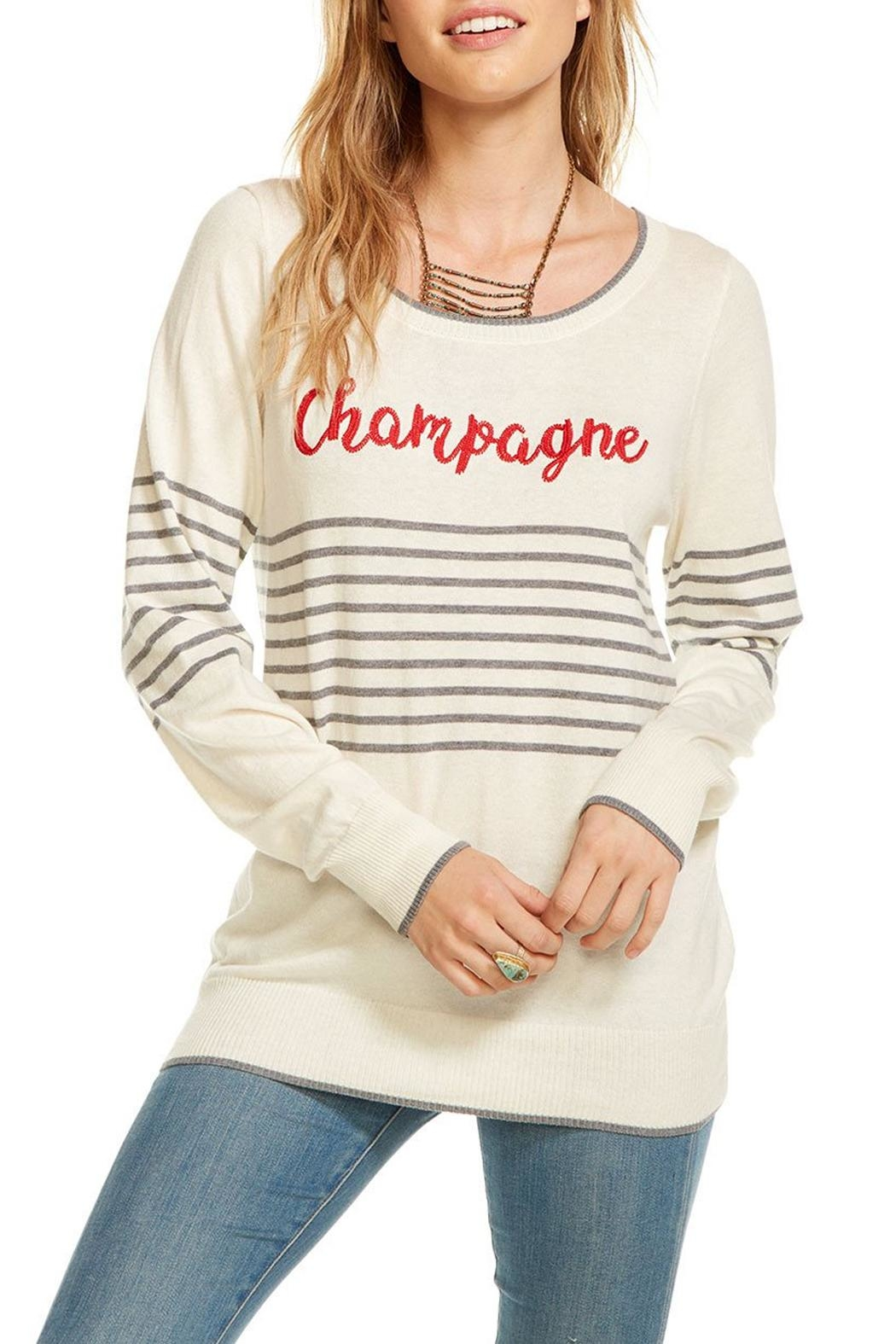Chaser Striped Champagne Pullover - Main Image