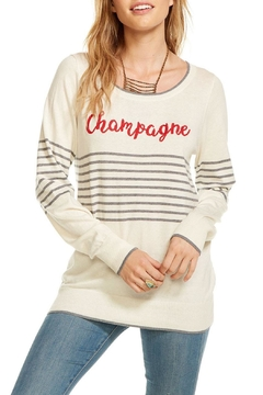 Shoptiques Product: Striped Champagne Pullover