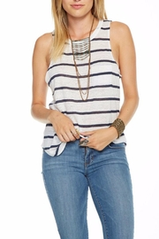 Chaser Striped Linen Tank - Front cropped